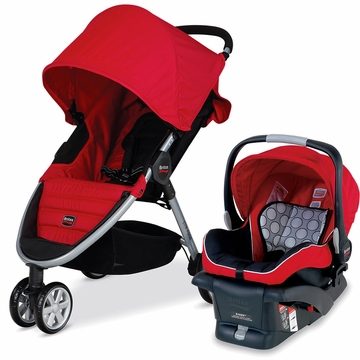 Britax B-Agile 2014 Travel System - Red
