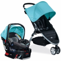 Britax B-Agile 3 & B-Safe 35 Elite Travel System - Aqua