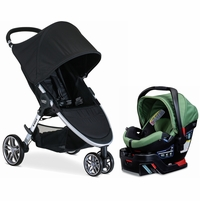 Britax B-Agile 3 & B-Safe 35 Elite Travel System - Black / Cactus Green