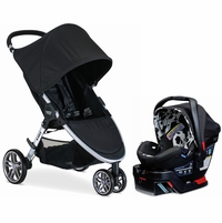Britax B-Agile 3 & B-Safe 35 Elite Travel System - Black / Cowmooflage
