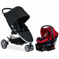 Britax B-Agile 3 & B-Safe 35 Elite Travel System - Black / Red Pepper