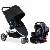 Britax B-Agile 3 & B-Safe 35 Elite Travel System - Black / Vibe