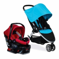 Britax B-Agile 3 & B-Safe 35 Elite Travel System - Cyan / Cyan Pepper