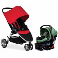 Britax B-Agile 3 & B-Safe 35 Elite Travel System - Red / Cactus Green