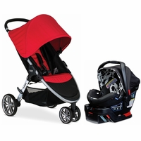 Britax B-Agile 3 & B-Safe 35 Elite Travel System - Red / Cowmooflage