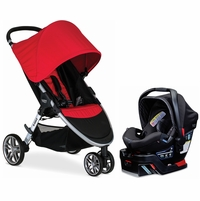 Britax B-Agile 3 & B-Safe 35 Elite Travel System - Red / Domino