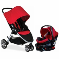Britax B-Agile 3 & B-Safe 35 Elite Travel System - Red / Red Pepper