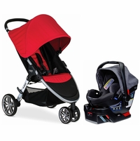 Britax B-Agile 3 & B-Safe 35 Elite Travel System - Red / Vibe