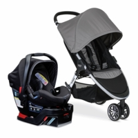 Britax B-Agile 3 & B-Safe 35 Elite Travel System - Steel / Domino