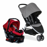 Britax B-Agile 3 & B-Safe 35 Elite Travel System - Steel / Steel Pepper