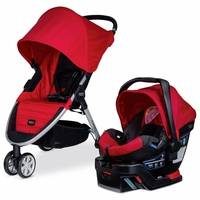 Britax B-Agile 3 & B-Safe 35 Travel System - Red