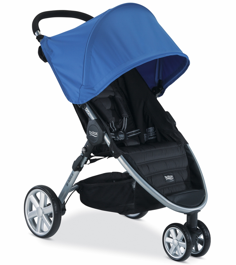 how to open britax b agile stroller