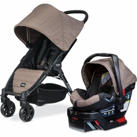 Britax B-Agile 4 & B-Safe 35 Travel System - Fossil Brown