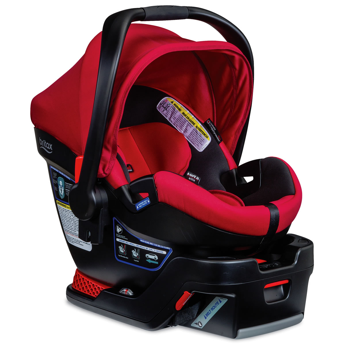 Britax B Safe  Elite Infant Car Seat Red Pepper