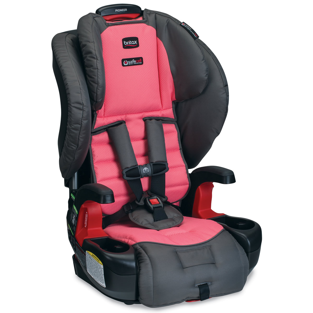 Britax Pioneer Harness Booster Car Seat Coral