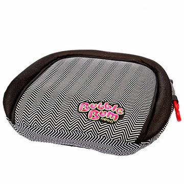 BubbleBum Inflatable Car Booster Seat - Chevron / Neon Pink