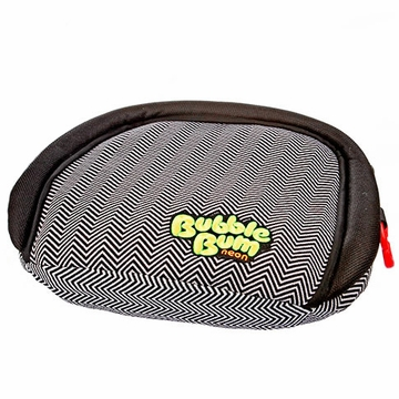 BubbleBum Inflatable Car Booster Seat - Chevron / Neon Yellow