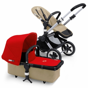 Bugaboo Buffalo Complete Stroller - Sand/Red