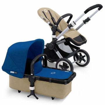 Bugaboo Buffalo Complete Stroller - Sand/Royal Blue