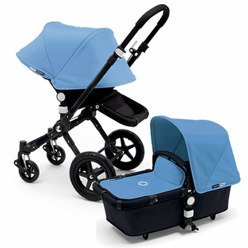 Bugaboo Cameleon 3 Stroller, Extendable Canopy - All Black/Ice Blue