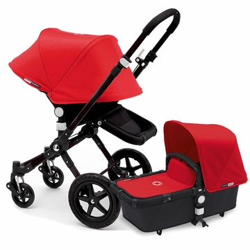 Bugaboo Cameleon 3 Stroller, Extendable Canopy - All Black/Red