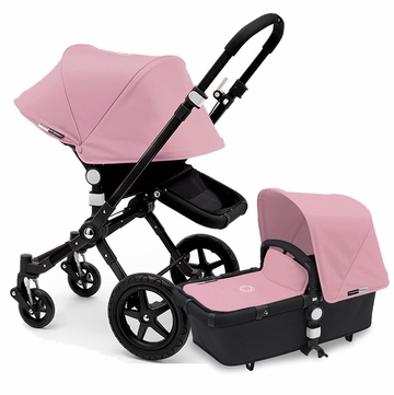 Bugaboo Cameleon 3 Stroller, Extendable Canopy - All Black/Soft Pink