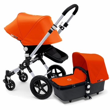 Bugaboo Cameleon 3 Stroller, Extendable Canopy - Grey/Orange