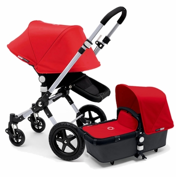 Bugaboo Cameleon 3 Stroller, Extendable Canopy - Grey/Red