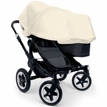 Bugaboo Donkey Duo Stroller, Extendable Canopy - All Black/Off White