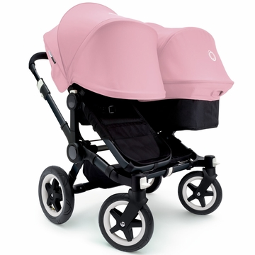 Bugaboo Donkey Duo Stroller, Extendable Canopy - All Black/Soft Pink