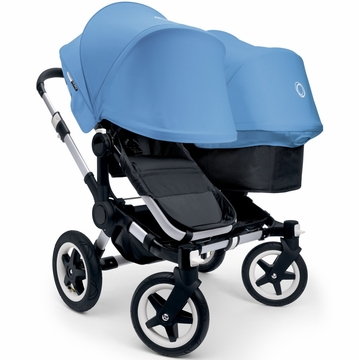 Bugaboo Donkey Duo Stroller, Extendable Canopy - Black/Ice Blue
