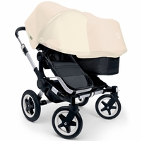 Bugaboo Donkey Duo Stroller, Extendable Canopy - Aluminium Black / Off White