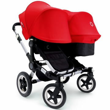 Bugaboo Donkey Duo Stroller, Extendable Canopy - Black/Red