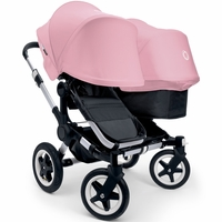 Bugaboo Donkey Duo Stroller, Extendable Canopy - Aluminium Black / Soft Pink