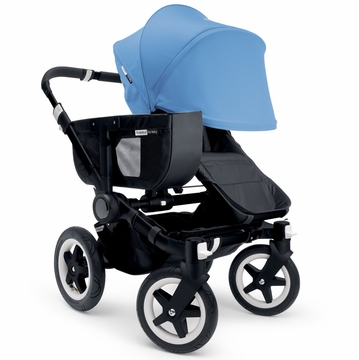 Bugaboo Donkey Mono Stroller, Extendable Canopy - All Black/Ice Blue