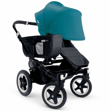 Bugaboo Donkey Mono Stroller, Extendable Canopy - All Black/Petrol Blue