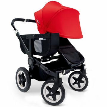 Bugaboo Donkey Mono Stroller, Extendable Canopy - All Black/Red