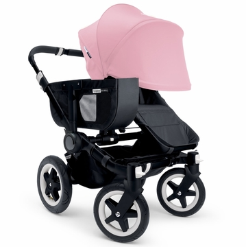 Bugaboo Donkey Mono Stroller, Extendable Canopy - All Black/Soft Pink
