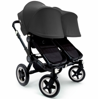 Bugaboo Donkey Twin Stroller, Extendable Canopy - All Black