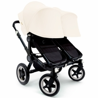 Bugaboo Donkey Twin Stroller, Extendable Canopy - All Black / Off White
