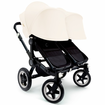 Bugaboo Donkey Twin Stroller, Extendable Canopy - All Black/Off White