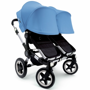 Bugaboo Donkey Twin Stroller, Extendable Canopy - Black/Ice Blue