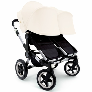 Bugaboo Donkey Twin Stroller, Extendable Canopy - Black/Off White