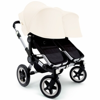 Bugaboo Donkey Twin Stroller, Extendable Canopy - Black / Off White