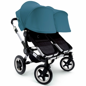 Bugaboo Donkey Twin Stroller, Extendable Canopy - Black/Petrol Blue