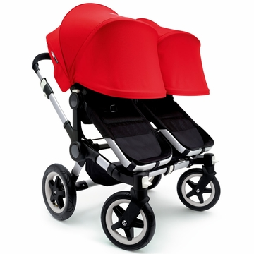 Bugaboo Donkey Twin Stroller, Extendable Canopy - Black/Red