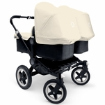 Bugaboo Donkey Twin Stroller in Black/Off-White