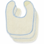 Bumkins Organic Cotton Everyday Bib 3 Pack in Dusty Blue