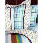 Caden Lane Big Kid Twin Duvet Cover in Boutique Blue