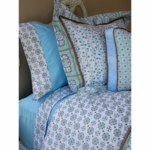 Caden Lane Big Kid Twin Duvet Cover in Modern Vintage Blue